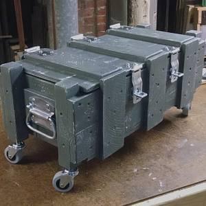Rolling 'Ammo Box' Storage Unit - Woodworking Project by retired_guru_tech