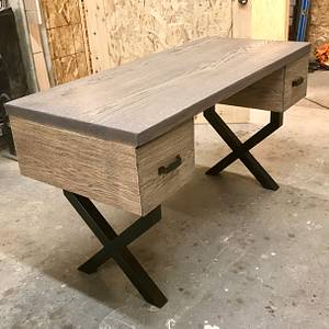 Sandblasted desk  - Woodworking Project by Indistressed