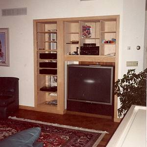 Casework: Oak Entertainment Center - Woodworking Project by Xylonmetamorphoun