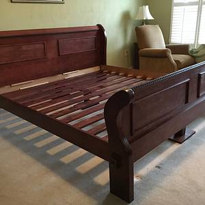 King size cherry sleigh bed - Woodworking Project by Jack King