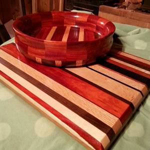 Bowl and Cutting Board - Woodworking Project by Will