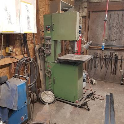 """Unkown 18"""" metal bandsaw Tool by WestCoast Arts"""