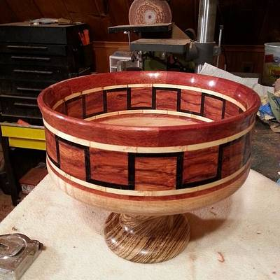 Bowl with pedestal - Woodworking Project by Will