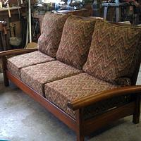 Arts and Crafts couch - Woodworking Project by QSWO
