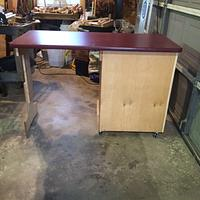 Table Saw Accessory Cabinet with Drop Leaf Top - Woodworking Project by Whittler1950