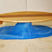 Surfboard coffee table - Woodworking Project by Clark Fine Furniture