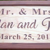 Mr. and Mrs. Wedding/Anniversary Signs