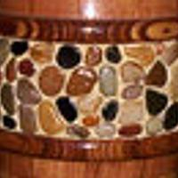 WOODEN VASE WITH STONES  - Woodworking Project by Sam Shakouri