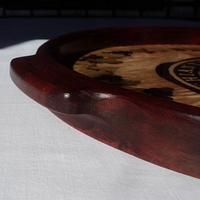 The Black Rooster, a Marquetry Tray - Woodworking Project by shipwright