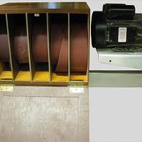 My reorganization kick -- Sandpaper holder for drum sander - Woodworking Project by Lightweightladylefty