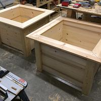 Extra large planters - Woodworking Project by Sheri Noble, woodworking at it's finest!