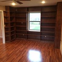 Built in Bookshelves - Woodworking Project by Bulldawg