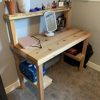 Desk - Woodworking Project by Sheri Noble, woodworking at it's finest!