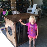 Dog Crate/Kennel - Woodworking Project by Sheri Noble, woodworking at it's finest!