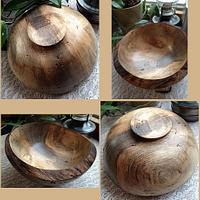 Beetle kill blue pine burl bowl..