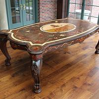 Dining Table with Carving & Marquetry - Woodworking Project by Dennis Zongker