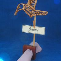 Filigree hummingbird theme - Woodworking Project by Celticscroller