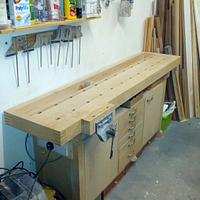 Bench for a one car garage workshop...