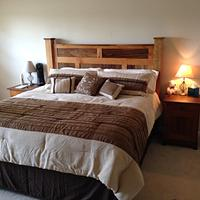 Cherry and Walnut frame and panel bed - Woodworking Project by Dave