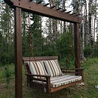 Pergola Swing/Day Bed Swing - Woodworking Project by Sheri Noble, woodworking at it's finest!