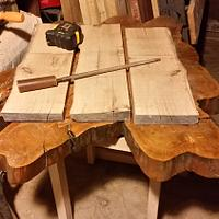 The remaking of my table for my slab table