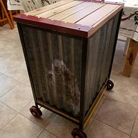 Steampunk trash and recycling bin or laundry hamper - Woodworking Project by Justin