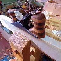 Stanley plane handle retrofit  - Woodworking Project by kiefer