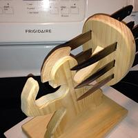 Ninja knife block - Woodworking Project by David A Sylvester