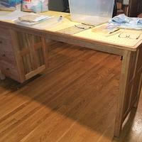 Sewing table - Woodworking Project by mark@woodworkinstallation