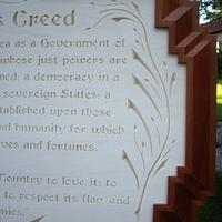 American's Creed - Woodworking Project by Roger Strautman