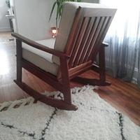 Custom designed rocking chair - Woodworking Project by Peepaw