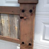 Barn wood headboard - Woodworking Project by Boone's Woodshed