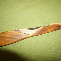 Butter Knife from shop drops (Osage Orange.) - Woodworking Project by Madts
