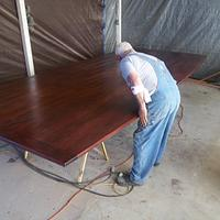 """Mahogany conference room table 2 1/2"""" thick top X 6' 8"""" wide 15' long - Woodworking Project by woodbutchersc"""