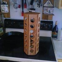 Tower k-cup holder that rolls - Woodworking Project by James L Wilcox