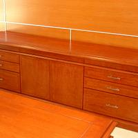Cherry Desk and Credenza - Woodworking Project by Bentlyj