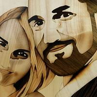 Wedding portrait of wood - Woodworking Project by Andulino