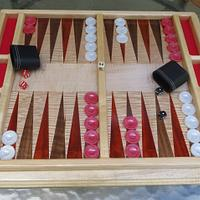 Table Top Backgammon Board - Woodworking Project by oldrivers