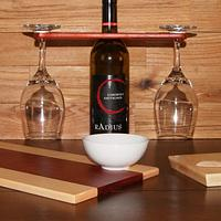 Oil Dipping Board, Cheese Board and Spreader and Wine Caddy - For Auction to Benefit ALS - Woodworking Project by David E.