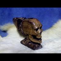 oak skull pipe  - Woodworking Project by munchy