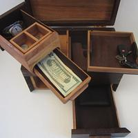 Men's Valet Box With Phone Charging and Hidden Compartments.  - Woodworking Project by Blackie