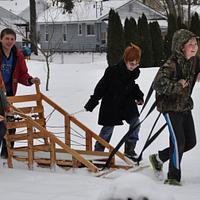 Boy Scout Klondike sled