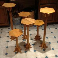 Oak Plant Stands - Project by Michael De Petro