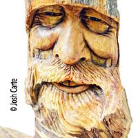 Happy as a cock in the henhouse CARVING - Woodworking Project by JoshCarteArt