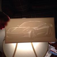 Acrylic and Corian Lithophane. - Woodworking Project by Keith Hodges