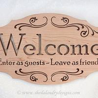 Enter As Guests Welcome Plaque