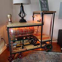 Steampunk Steam Engine Side Table