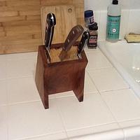 Kitchen Knife Block - Woodworking Project by 3fingerpat