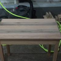 Oak and Walnut Side Table - Woodworking Project by Roushwoodworking
