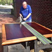 Makore Table Enlarged - Woodworking Project by Ellenski